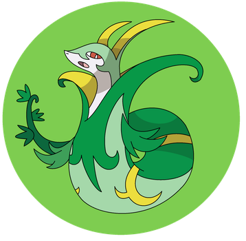 POKEDDEXY 2015 DAY 10 - Grass - Serperior by Ninja3lf