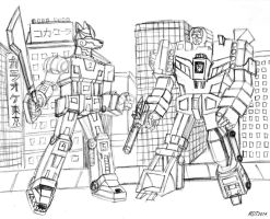 Mecha Rover vs. Devastator by MDTartist83