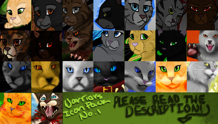 xx Warrior Cat Icon Pack No. 1 by TheMoonfall