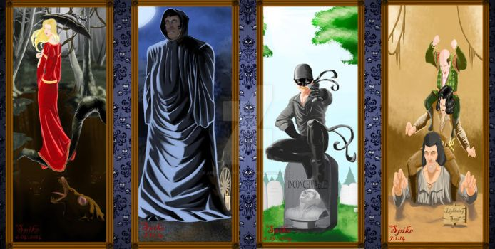 Haunted Manion Princess Bride Portraits by Ari-Spike-Nadelman