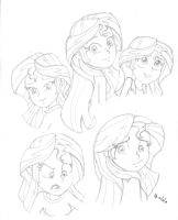 2014 Sunset Shimmer studies by mayorlight