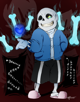 Undertale Fanart - Sans by AnimeAngel7