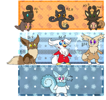 PKMNation - Hallowistmas in July Clutches [OPEN] by starryraindrops