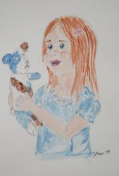 Water colour girl3 by stephannie-moran
