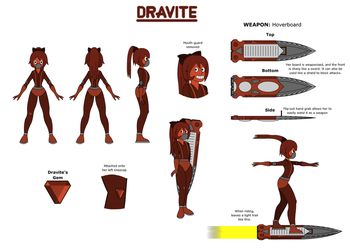 Dravite - Steven Universe Gem - FC Reference Sheet by Hexidextrous