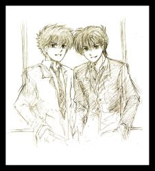 Kudo n Kuroba sketch by Lizeth