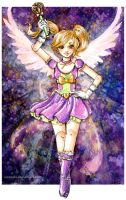 Magical Paperdoll Birthday Card by Loonaki