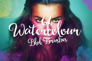 64 Watercolour Blob Brushes by Layerform
