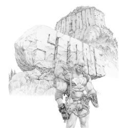 Cap Stone pencil art by LiamSharp