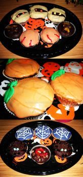 Halloween Cupcakes by BubuJane