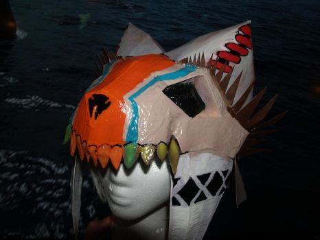 Monster Hunter Bone Helm by franchii-manchii