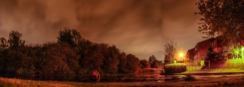 Thamesmead South Wood Road Night Time by TMProjection