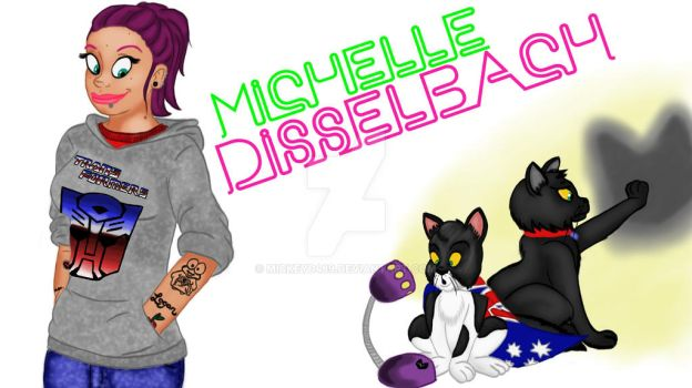 Cartoon Me and my cats by Mickeyd489