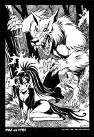 Wulf and Batsy Summer 2013 by BryanBaugh