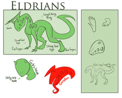 Eldrians Species Sheet by LuCiiPeR