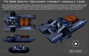 TX-225 GAVw Occupier tank ortho [Update] by unusualsuspex
