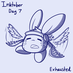 Inktober day 7 - Exhausted  by swim-fin