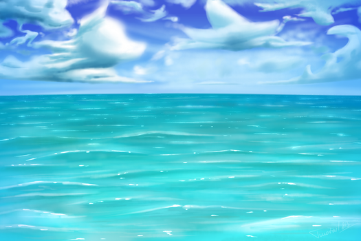Sea and clouds by Twotail813
