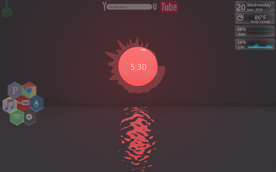 Calm sunset with music Visualizer by UncleCagy