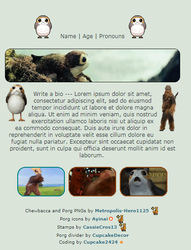 Porg and Chewie Page Code | F2U by Cupcake2424