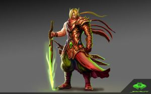 ...Blood Elf Blademaster... by ShadowPriest