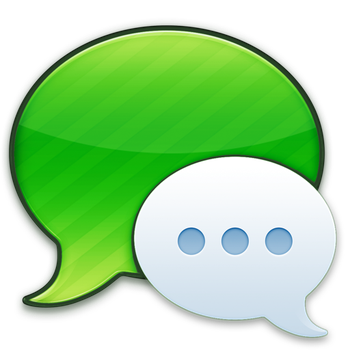 Mac OS X Green Messages icon by sleazy-kay
