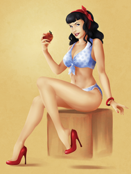 Bettie Page by ToolOfTheDay