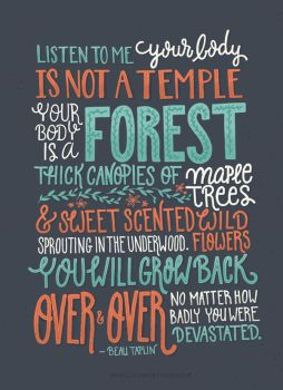 Forest Lettering by CrystalPicard