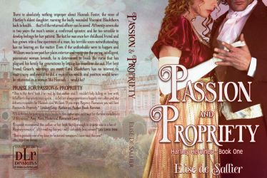 ** SOLD ** Passion and Propriety Book Cover by DLR-Designs