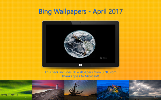 Bing Wallpapers - April 2017 by Misaki2009