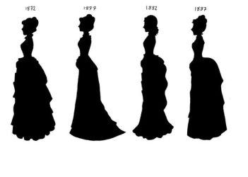 Victorian Silhouettes-1872-87 by lady-of-crow