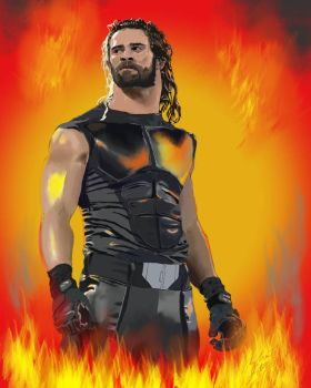 WWE Superstar Seth Rollins  by asfarnham