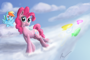 Pinkie on the Clouds? by Phendyl
