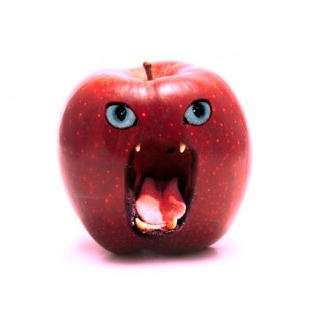 Angry Apple by xxxDelgadoxxx