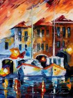 Italy 2 by Leonid Afremov by Leonidafremov
