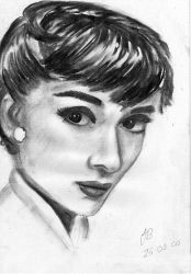 Audrey Hepburn by poodlebug by WitchKing-Club