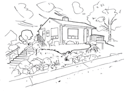 house drawing3 (line art) by electronicdave