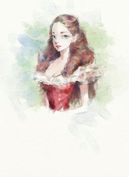 Doodle (Digital watercolor practice) by whiskypaint
