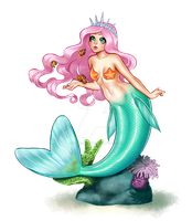 Kawaii Pastel Mermaid by KittyCatKissu