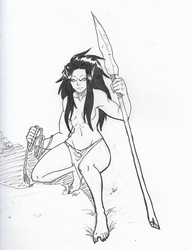 Orc Huntress Redone by Baby-Crow