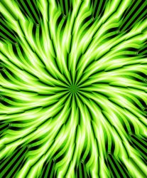 Green Spiral Star (1) by MichaelVance-ART