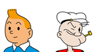 Tintin and Popeye by MarcosPower1996