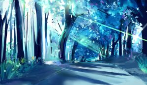 blue forest by kareyare