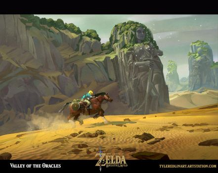 Valley of the oracles (breath of the wild) by TylerEdlinArt