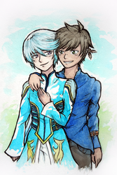 Sorey and Mikleo by Shinedt