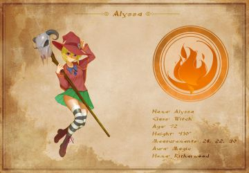 Character Sheet - Alyssa by AG-Publishing