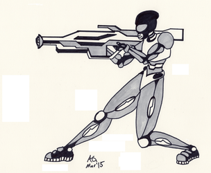 Science Fiction Power Suit by NinjaObsessed