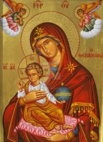 Virgin Mary with angels by teopa