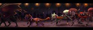 BIG an evening parade of baes by Dragonpunk15