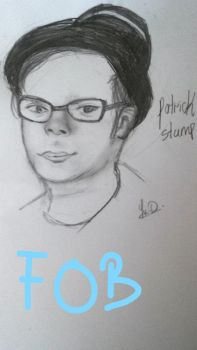 Patrick Stump (Fall Out Boy sketch) by snowflake20006
